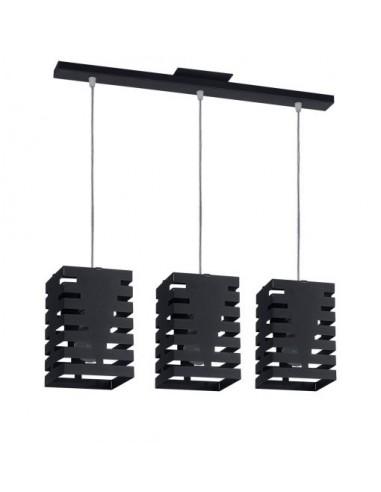 Colgante chester De 3 Luces Negro Text