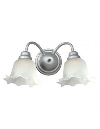 Aplique De Caño rocio De 2 Luces Blanco